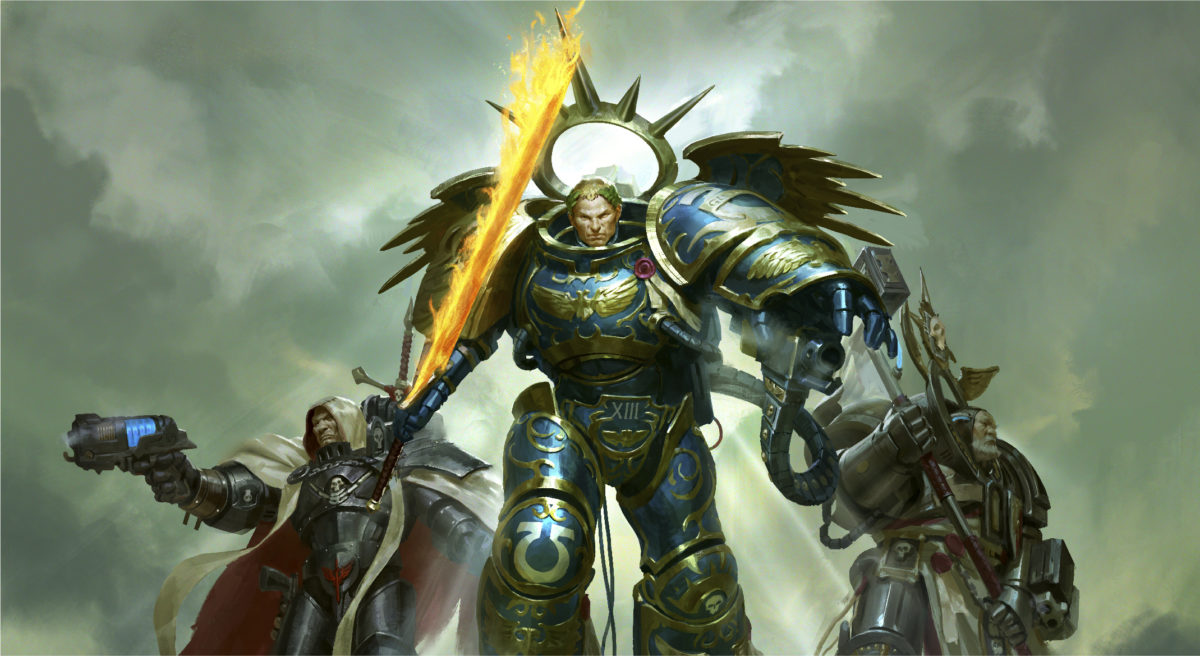 Warhammer 40000 Space Marines artwork