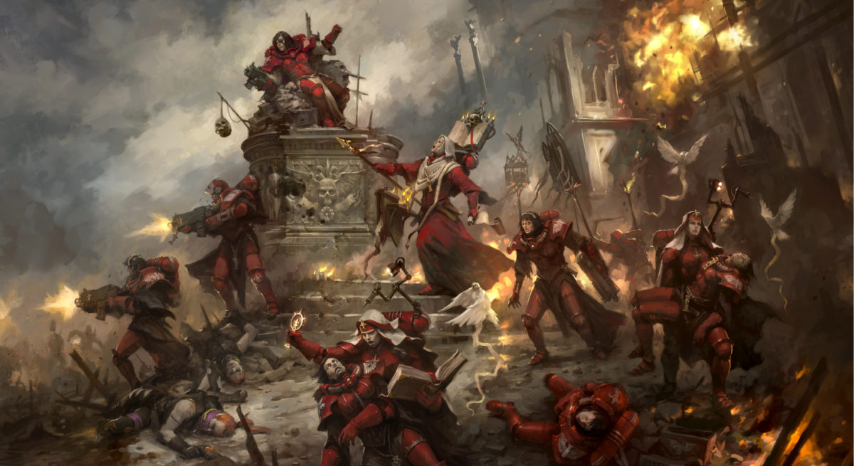 Warhammer 40000 Sisters of Battle artwork